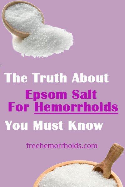 Can I Use Epsom Salt Soaking For Hemorrhoids? Is It Good ...