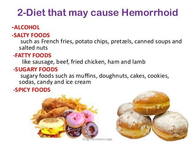 Hemorrhoids drug information page