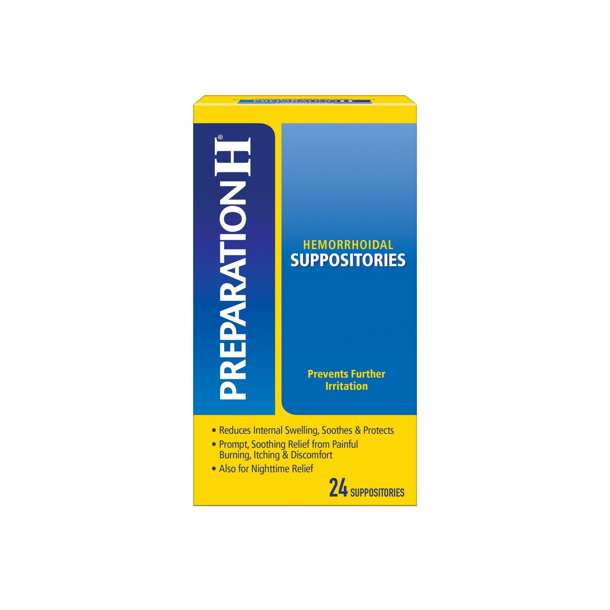 PREPARATION H Hemorrhoid Symptom Treatment Suppositories ...