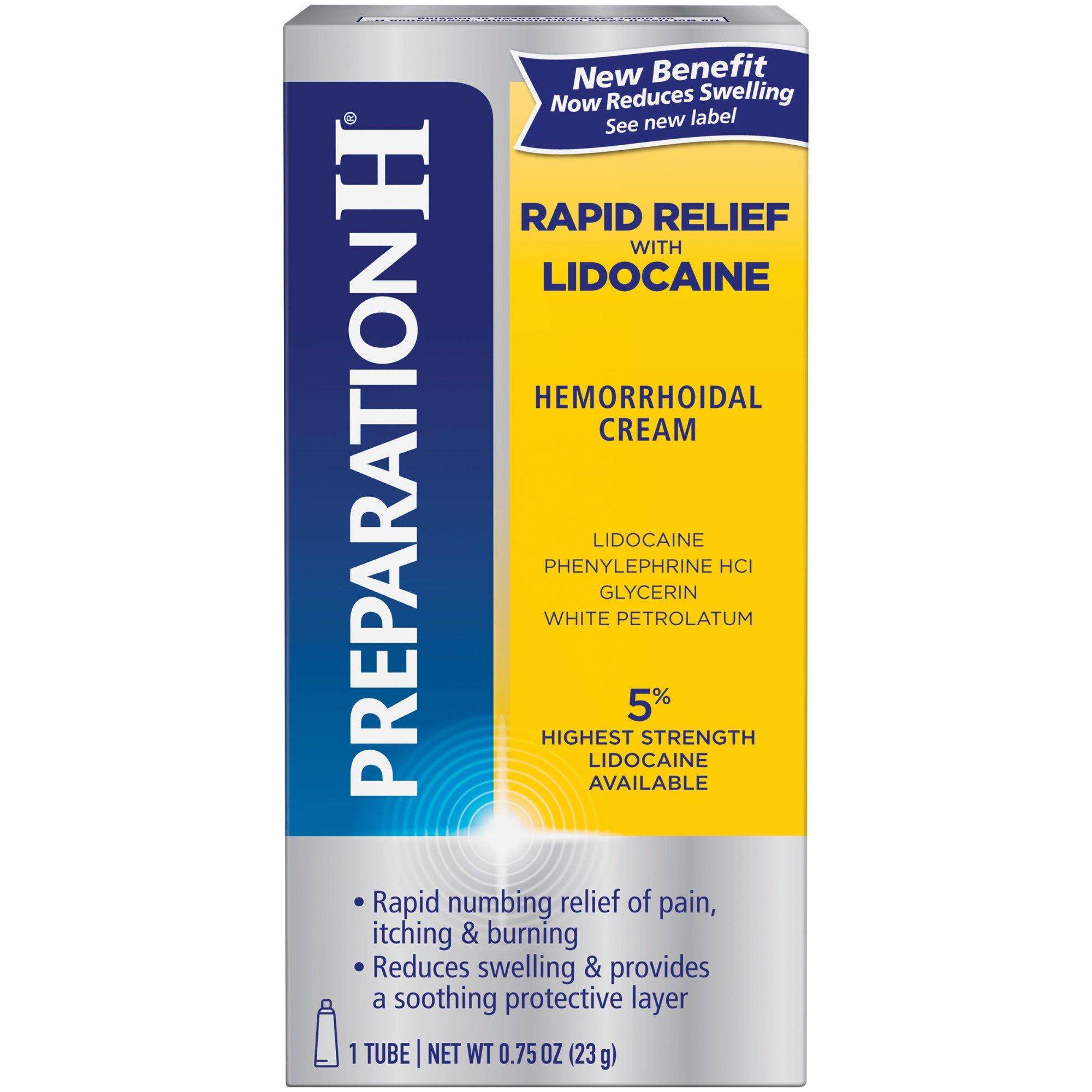 Preparation H Rapid Relief Wth Lidocaine Hemorrhoid Relief ...
